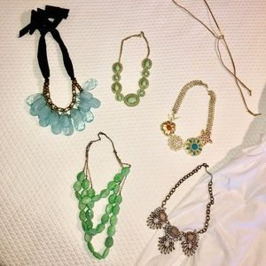 Anthropologie and Nordstrom necklaces